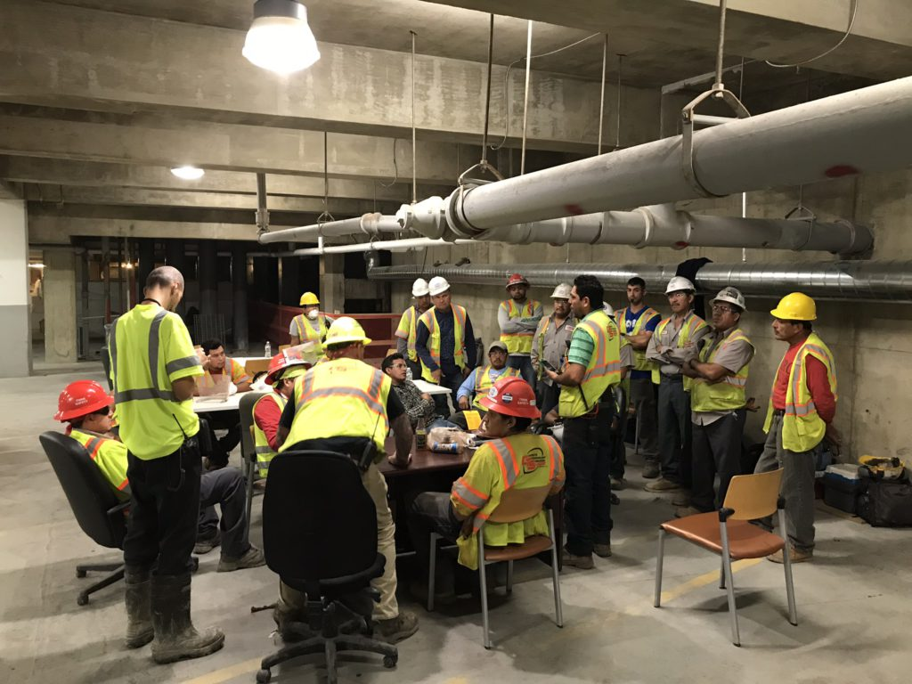 Concrete Cutting contractor Washington DC safety meeting