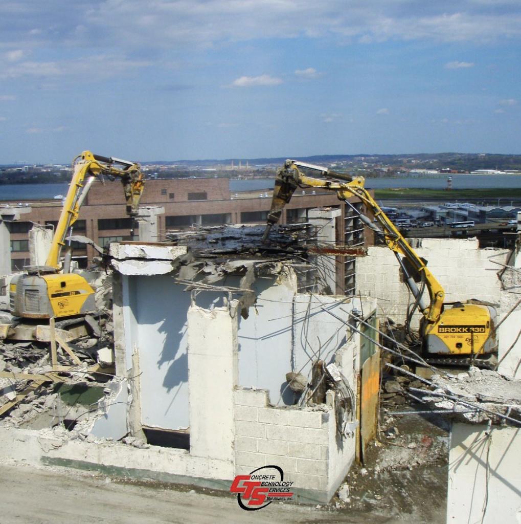 Concrete Demolition with Brokk Virginia