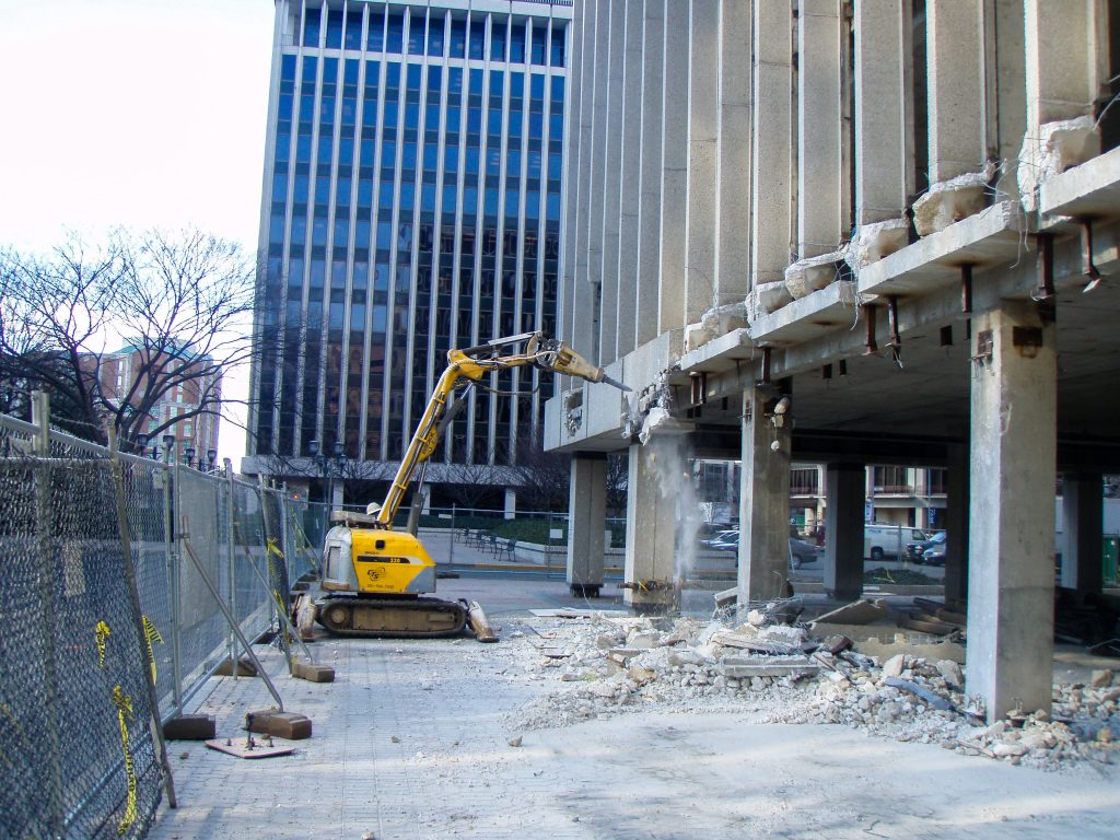 Concrete robotic demolition in Washington DC
