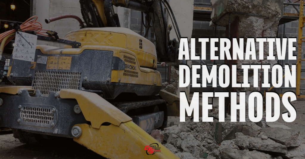 concrete cutting alternative methods